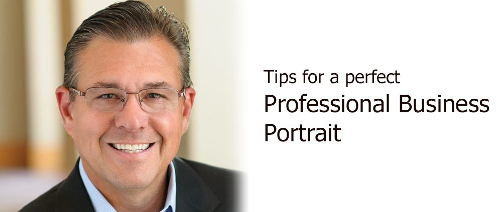 tips for a perfect professional business portrait