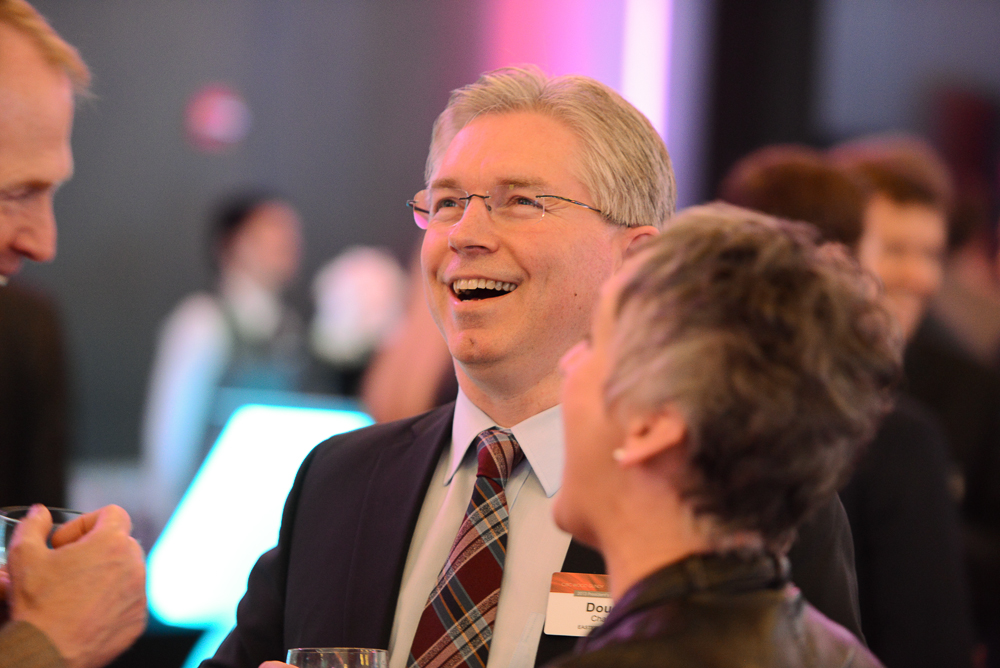 Candid laughter at Chicago Conference by G Thomas Ward Photography