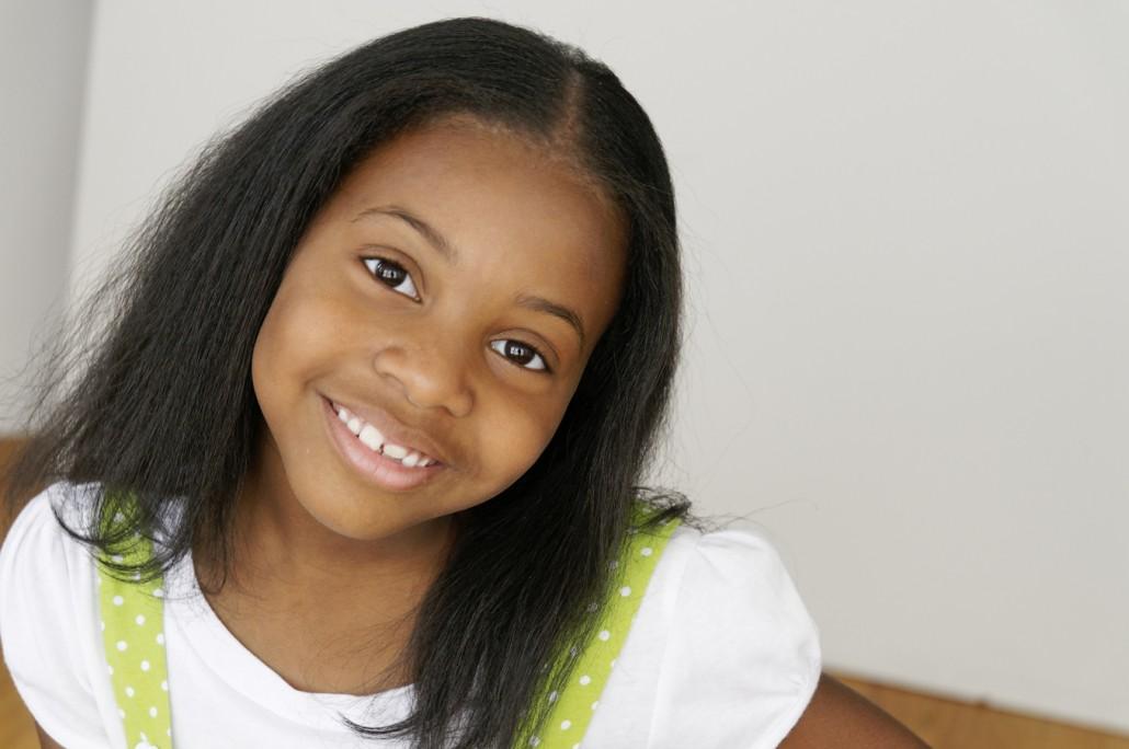 Child actress portrait