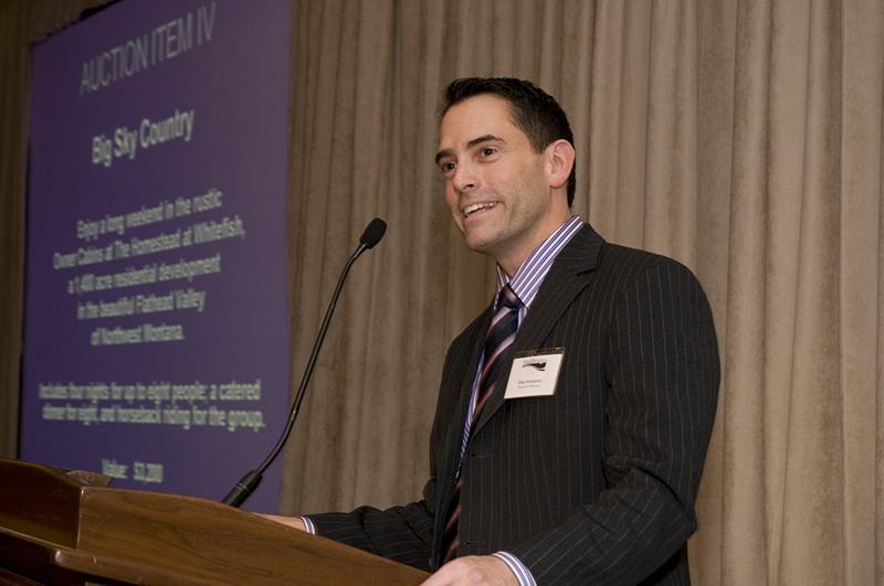 Speaker at podium photograph