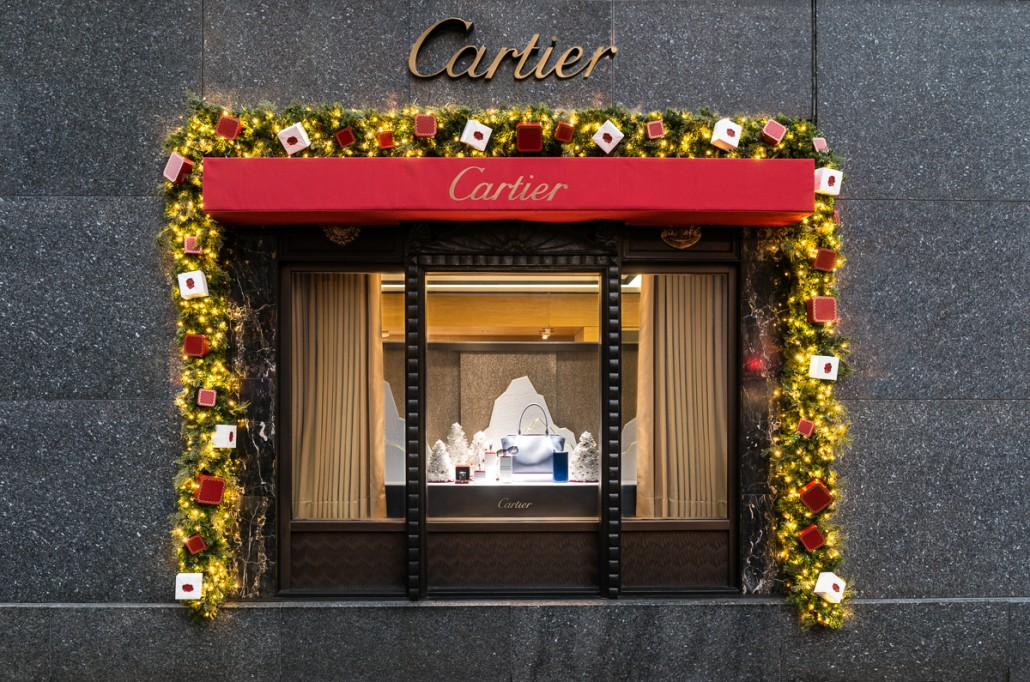 Cartier holiday window display