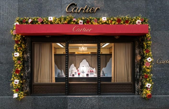 Cartier holiday window display